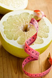 Dieting . pomelo fruit Stock Images