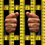 Dieting Prisoner Concept Royalty Free Stock Photo