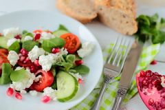 Dieting salad Royalty Free Stock Images