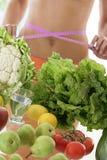 Dieting skład na bielu Zdjęcia Royalty Free