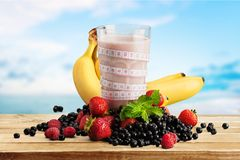 Dieting. Smoothie Milk Shake Healthy Lifestyle Healthy Eating Fruit Food Stock Photos
