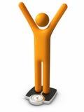 Dieting - Success. 3d stick figure : Dieting - Success royalty free illustration