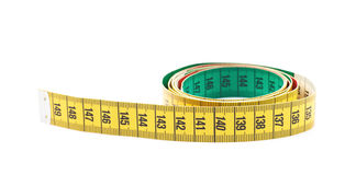 Dieting tape measure isolated Royalty Free Stock Photography