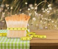Dieting. Weight Muffin Unhealthy Eating Counting Loss Chocolate Royalty Free Stock Images