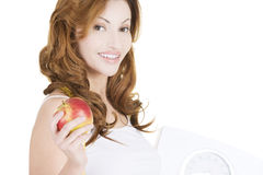Dieting woman portrait Royalty Free Stock Image