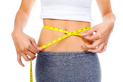 Dieting woman waist Stock Photo