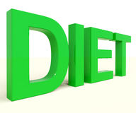 Dieting Word Showing Diet Royalty Free Stock Images