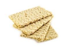Dietiskt bröd på en vit bakgrund Fotografering för Bildbyråer