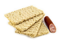 Dietiskt bröd på en vit bakgrund Royaltyfri Fotografi