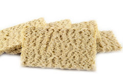 Dietiskt bröd på en vit bakgrund Arkivbild
