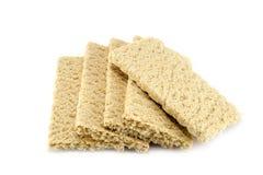 Dietiskt bröd på en vit bakgrund Royaltyfri Bild