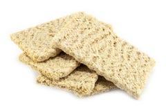 Dietiskt bröd på en vit bakgrund Royaltyfria Bilder