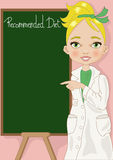 Dietitian with Blackboard Royalty Free Stock Photos