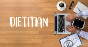 DIETITIAN and Nutritionist doctor or dietitian and dietitian pro Royalty Free Stock Image