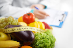 Dietitian prescribing treatment Stock Photos