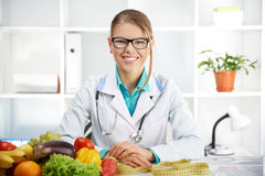 Dietitian With Tape Royalty Free Stock Image
