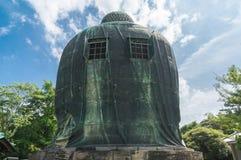 Dietro di grande Buddha Daibutsu a Tokyo, il Giappone Fotografie Stock Libere da Diritti