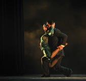 Dietro l'abbraccio - L'identità del dramma di ballo di mistero-tango Fotografie Stock Libere da Diritti