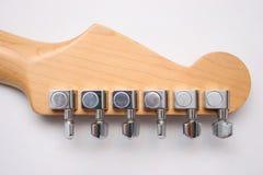 Dietro la chitarra elettrica Immagine Stock