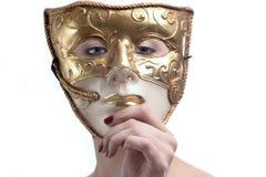 Dietro la mascherina Fotografia Stock Libera da Diritti