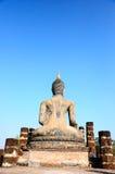 Dietro la statua del buddha Immagini Stock Libere da Diritti