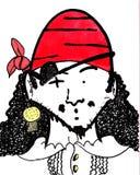 Dietro la toppa del pirata Fotografia Stock
