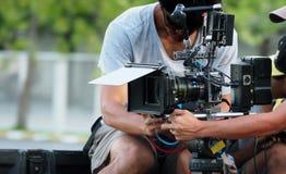 Dietro le scene di produzione della fucilazione o del video di film immagini stock libere da diritti