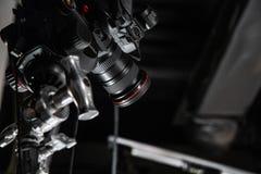 Dietro le scene di video fucilazione del video o di produzione immagine stock libera da diritti