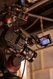 Dietro le scene di video fucilazione del video o di produzione fotografia stock