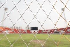 Dietro lo scopo di calcio Fotografia Stock