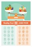 Diets comparison Stock Image