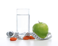 Dietting breakfast diabetes weight loss concept Stock Photos