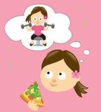 Diety i ćwiczenia pojęcie ilustracja wektor