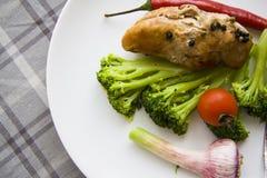 Diety jedzenia talerza zbliżenie zdjęcie stock