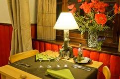 diety naczynia szklana miara setu stołu taśmy wody Obrazy Royalty Free