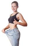 Diety pojęcie i hanppy kobieta Fotografia Royalty Free