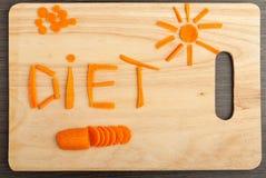Diety pojęcie. projekta jedzenie. Obraz Royalty Free