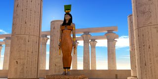 Dieu égyptien Hathor illustration stock