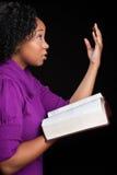 Dieu adorant de femme Image libre de droits