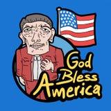 Dieu bénissent l'Amérique illustration libre de droits