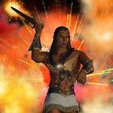 Dieu d'atlas de guerre illustration stock