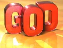 Dieu de 3D Word sur le fond jaune Photographie stock libre de droits