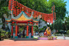 Dieu de mariage et d'amour dans le temple de Thean Hou de Chinois Photo stock