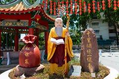 Dieu de mariage et d'amour dans le temple de Thean Hou de Chinois Photographie stock
