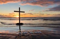Dieu de plage est amour Images stock