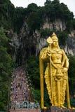 Dieu de statue d'étapes de la Malaisie de caverne de Batu Photos stock