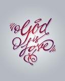 Dieu est amour Image stock