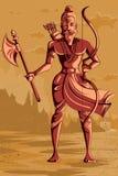 Dieu indien Parashurama avec la hache Photos stock