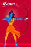 Dieu indien Rama avec le tir à l'arc Image libre de droits