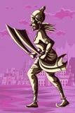 Dieu indien Ravana avec l'épée Photo libre de droits
